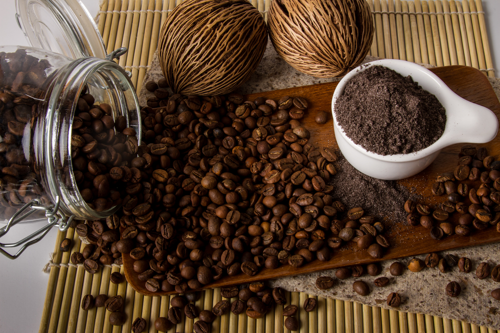 home made coffee body scrub